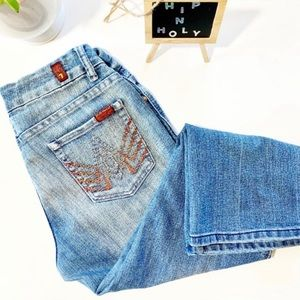 7 FOR ALL MANKIND Embellished Cropped Jean 28